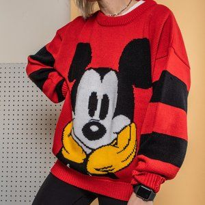 Vintage 90s Oversized Mickey Mouse Sweater